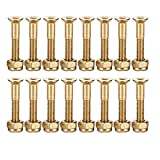 YS Sport 16 Pcs 1 Inch Skateboard Mounting Hardware Screws Bolts (Gold - 16 Pcs)