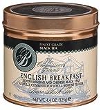 Boston Tea Finest Grade Black Tea, English Breakfast Loose Tea, 4.4-Ounce Tins (Pack of 2)