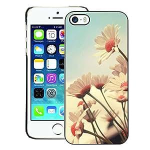 A-type Arte & diseño plástico duro Fundas Cover Cubre Hard Case Cover para iPhone 5 / 5S (Flower Field Vintage Vignette Summer)