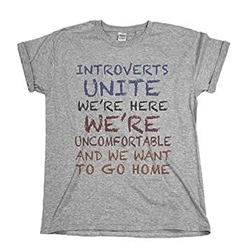 Introverts Unite We`re Together Mens & Ladies Unisex Fit Slogan T-Shirt