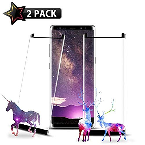 [2 - Pack] Galaxy Note 9 Screen Protector, Wehasi [3D Curved Edge][Case Friendly] Ultra Clear 9H Hardness Tempered Glass Screen Protector Bubble-Free Film Samsung Galaxy Note 9 2018, Black