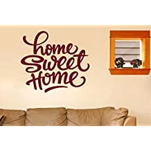Home Sweet Home Felt Tip Pen Wall Stickers Art Decals - Large (Height 57cm x Width 63cm) Shiny Gold
