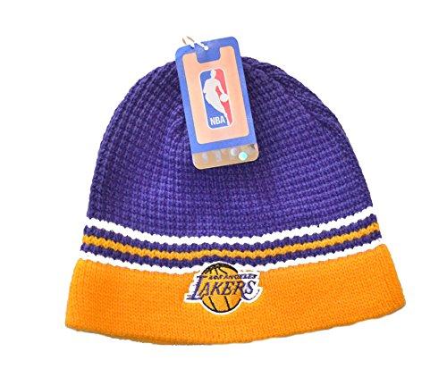 Los Angeles Lakers ShowTime Skull Cap - NBA LA Cuffless Beanie Toque Hat