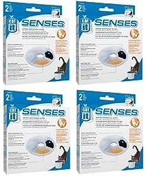 Catit Design Senses Replacement Water Filtering Cartridge, 2-Pack (8-Pack)