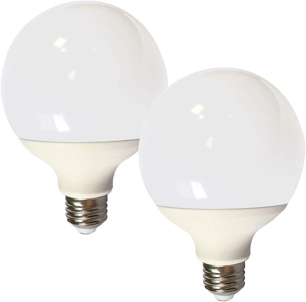 DALUX G30 Globe G95 Led Bulb,10 Watt 1000 Lumen with E26 Base, 60 Watt Incandescent Bulb Equivalent,Non-Dimmable, Warn White 2700K, Pack of 2Unit