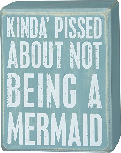 Box Sign - Not A Mermaid (Water Ski Wood Sign)