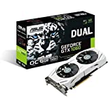 ASUS GeForce GTX 1060 6GB Dual-Fan OC Edition VR Ready Dual HDMI DP 1.4 Gaming Graphics Card (DUAL-GTX1060-O6G) (Certified Refurbished)