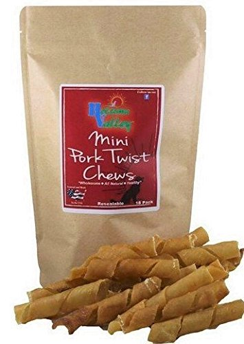 Holsome Valley Pork Twist Dog Chews-All Natural-Premium Rawhide Chews Alternative-No Preservatives-No Additives-Sourced and Made In The USA-Healthy Small/Medium Dog Treat-Highly Digestible-12Pk.8