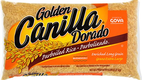 Goya Foods Golden Canilla Parboiled Rice, 5 Pound (pack of 12) by Goya