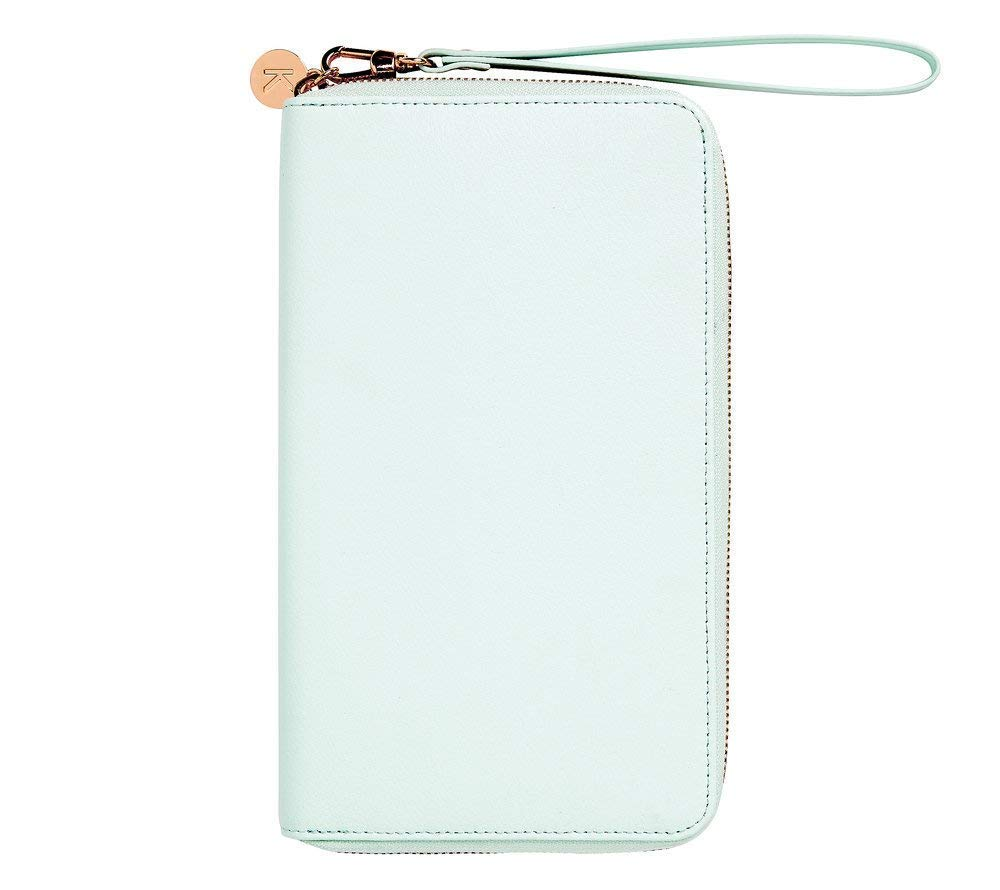 Amazon.com: kikki.K Leather Travel Wallet With Zip: Mint ...