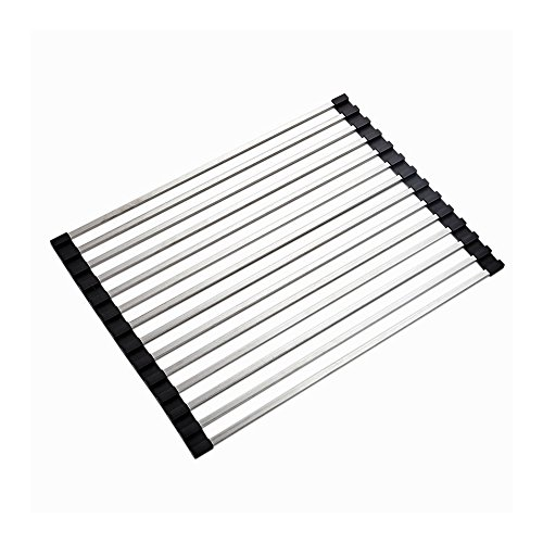 LOHOME Rollable Dish Drying Rack - Heavy Duty Stainless Stee