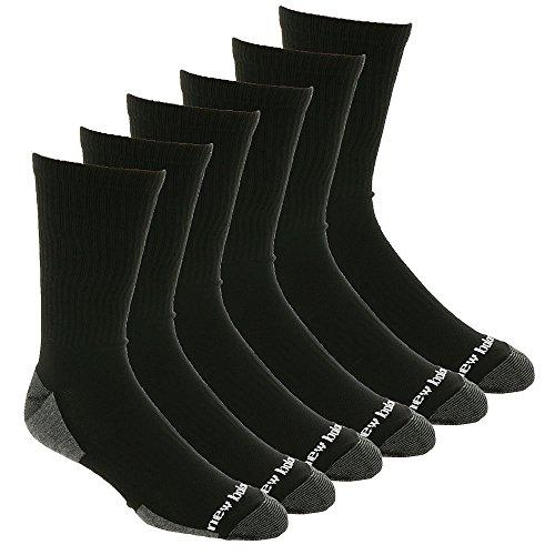 New Balance Mens 6-pair fitness basics crew socks