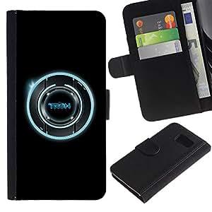 EJOY---La carpeta del tirón la caja de cuero de alta calidad de la PU Caso protector / Samsung Galaxy S6 / --Legado