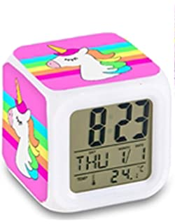 Top Trenz Color Changing Led Digital Alarm Clock=Unicorn Rainbow Unicorn