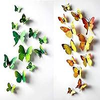 24 piezas de decoración de arte pegatinas de pared casa calcomanías habitación del niño