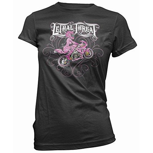 Lethal Threat (LT20142XXL) Women's Sport Bike Girl T-Shirt (Black, XX-Large)