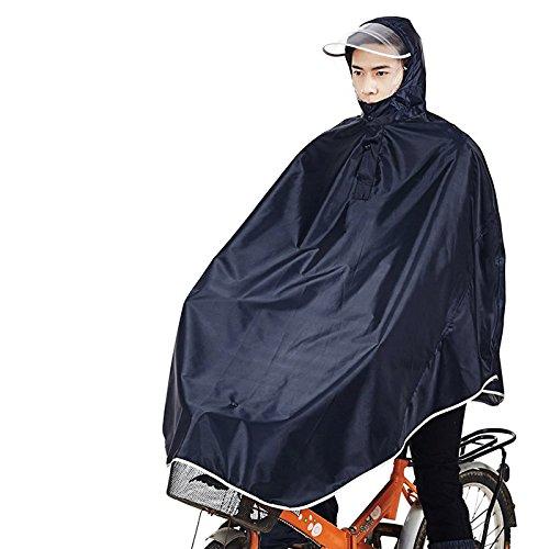 Tourwin Windjacke Fahrrad Regenjacke mit Kapuze, Poncho, 1 Stück schwarz schwarz