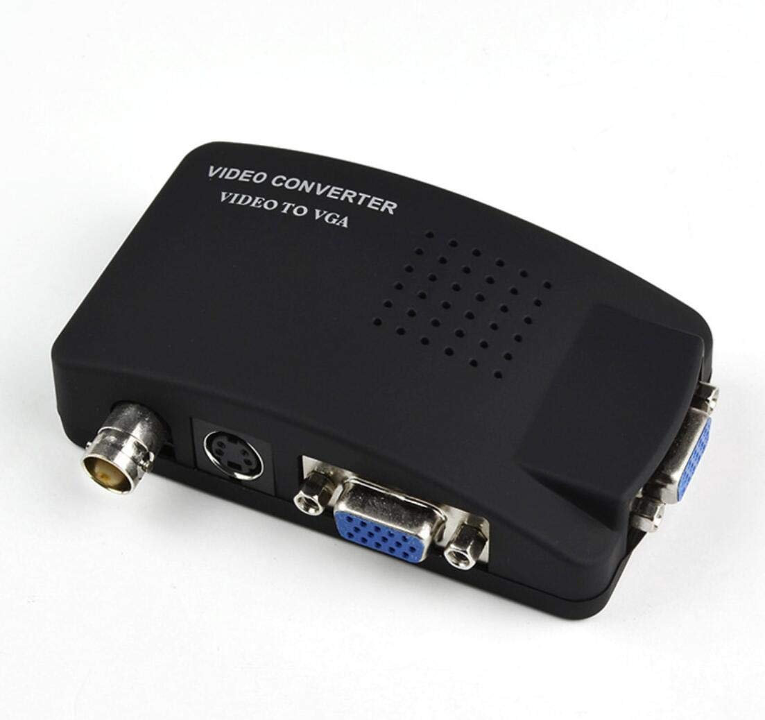 HaoYiShang 1080p Adaptateur convertisseur vid/éo vers VGA Vid/éo//S Box Interrupteur pour PC LCD Moniteur BNC vers VGA Adaptateur Box