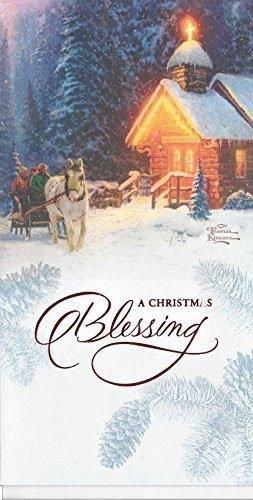(Thomas Kinkade Christmas Blessing Money/card Holder Greeting Card)