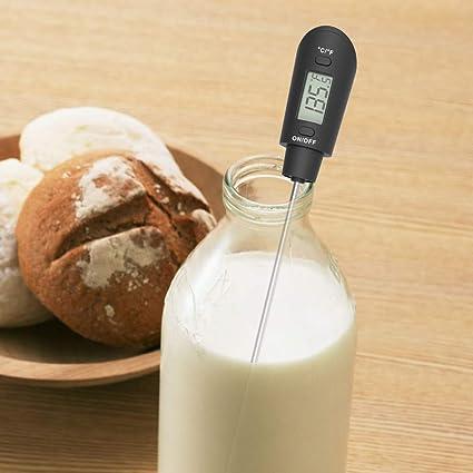 Saucen digitales Thermometer f/ür Schokolade Cremes KT THERMO Koch- und S/ü/ßigkeiten-Teigschaber Marmelade und Sirup chocolate thermometer spatula schokoladenbraun