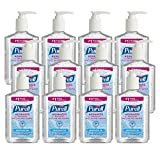 PURELL Advanced Hand Sanitizer, Refreshing Gel, Clean Scent, 8 fl oz Sanitizer Table Top Pump Bottle (Case of 12) - 9652-12