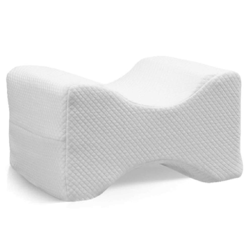 AOACD Memory Foam Knee Leg Pillow Bed Cushion Leg Pad Leg Knee Shaping Pregnancy Body Pain Relief Sleeping Pillow,White