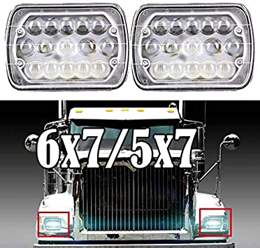 "7x6/""LED Headlights DRL For International IHC Headlight Assembly 9200 9900 9400i"