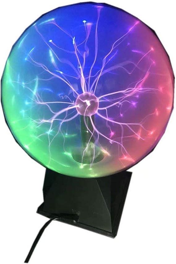 Touch /& Sound Sensitive Plasma Lamp Light 8 inch Magic Plasma Ball Tradeopia Corp Nebula Sphere Globe Novelty Toy for Decorations//Kids//Bedroom
