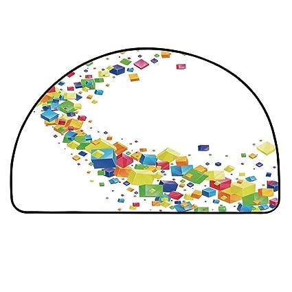 Amazon.com: YOLIYANA - Alfombra semicircular para decoración ...