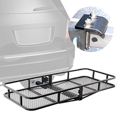 (XCAR Folding Hitch Mount Luggage Cargo Basket Trailer Cargo Carrier 60