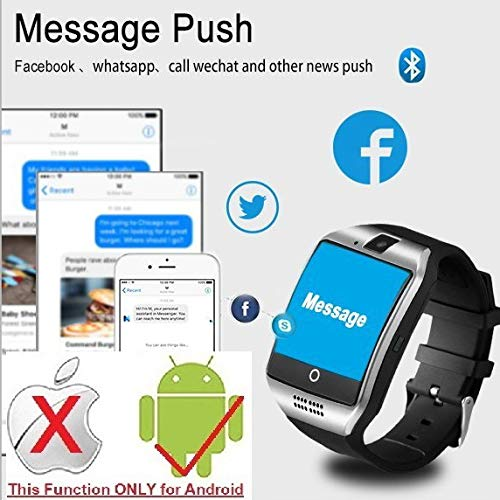 CNPGD [U.S. Office & Warranty Smart Watch] All-in-1 Weather Proof Smartwatch Watch Cell Phone for Android, Samsung, Galaxy Note, Nexus, HTC, Sony (Black, M) by CNPGD (Image #6)