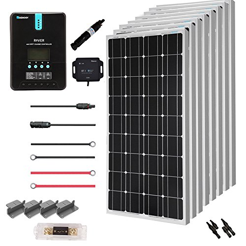 Renogy 800 Watt 24 Volt Off Grid Solar Premium Kit with Monocrystalline Solar Panel and 40A MPPT Rover Controller