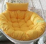 swing chair cushion, round patio garden wicker hanging egg rattan chair hammock pad, indoor or