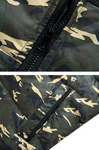 Uomini Militare Il Jitong Verde Incappucciati Parka Cappotti Invernale Verso Spessa Mimetica Giacca Caldi Basso dwOHq