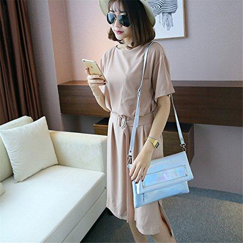Unique pour argent femme Pochette Taille Remeehi Silver 0pxqYw5nU