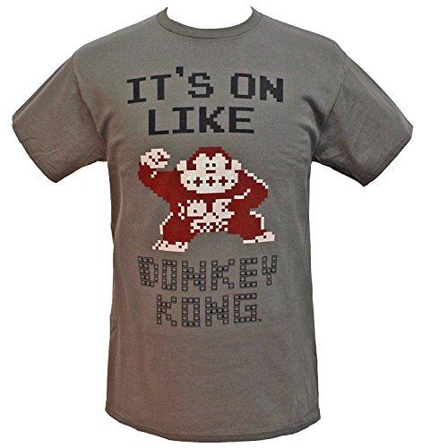 Hybrid Nintendo Men's It's On Like Donkey Kong NES Classic Graphics T-Shirt (X-Large)