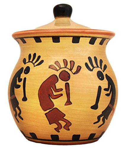 Southwestern KOKOPELLI COOKIE Jar ceramic kitchen - Cookie Grapes Jar