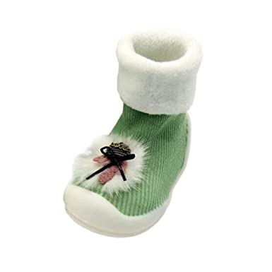Amazon.com: NUWFOR Cute Cartoon Image Baby Shoes Thick Warm ...