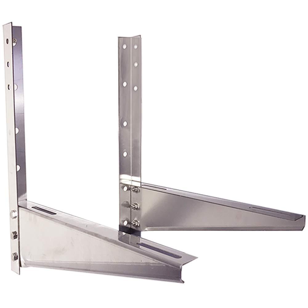 ユニバーサル屋外壁取り付けブラケット、防錆201ステンレス鋼取り外し可能なポータブルエアコンフレーム、ミニスプリットエアコンコンデンサーユニットに適して B07QMVJZ2T 2.0mm/2-3p  2.0mm/2-3p