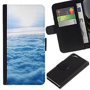 Ihec-Tech / Flip PU Cuero Cover Case para Apple Iphone 6 4.7 - Nature Cloud Sunshine