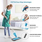 POPTEN Microfiber Spray Floor Mops for Floors