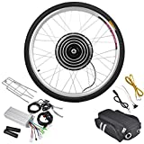 26'' Inches Rear Wheel Electric Bicycle Motor Conversion Kit 48V 1000W 470RPM w/ Speed 45-48 KM/H & Efficiency Exceed 80% for Sporting Outdoor Cycling Bike Cruise Motorize