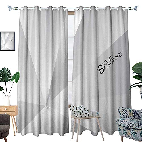 blackout curtains for bedroom Silver polygonal background vector illustration Gray abstract texture wallpaper cover Business flyer template book layout advertisement print med W120