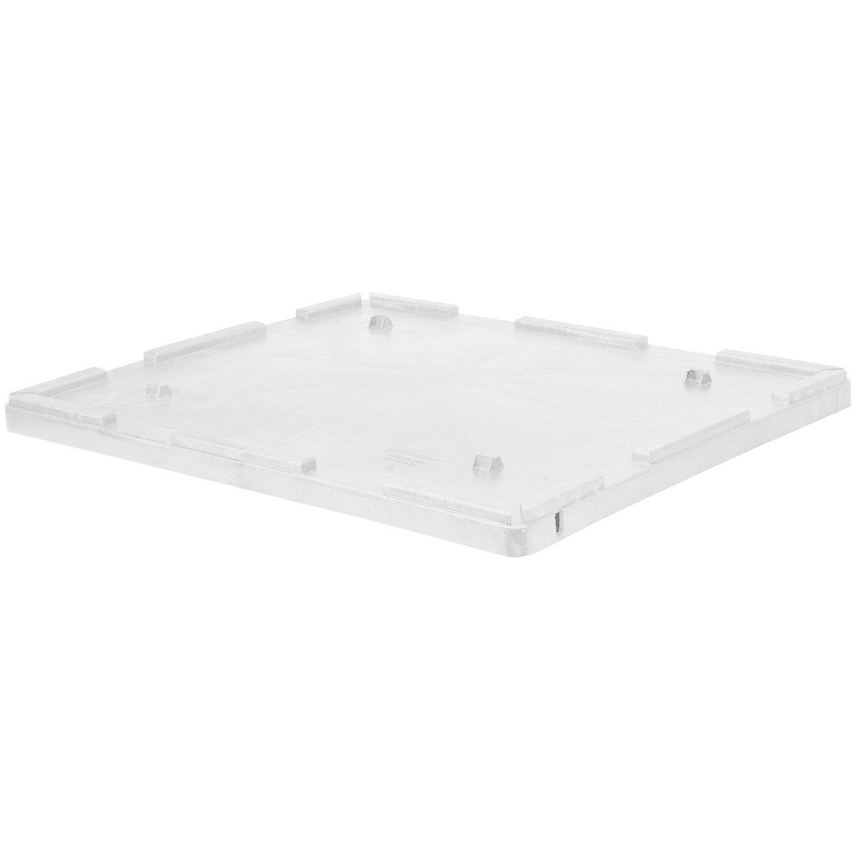 Buckhorn TL48440300SG000 48'' x 44'' Structural Foam Bulk Container Lid, White