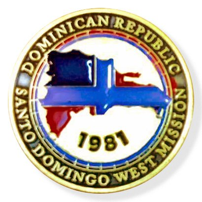 LDS Dominican Republic Santo Domingo West Mission Commemorative Lapel ()