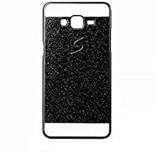 KSHOP Coque Case for Samsung Galaxy Grand Prime G530 Luxe Bling Phone Cover Sparkling Glitter PC Retour Back Hard Etui Housse Shining Shinning Skin Cover Shell anti-rayures Scratch-resistant, Black Noir