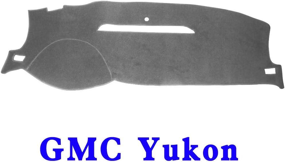 JIAKANUO Auto Car Dashboard Dash Board Cover Mat Fit for GMC Yukon 2007-2014 Yukon 07-14, Gray
