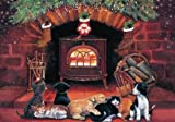 American Humane Association 'By the Fireside' Christmas Card