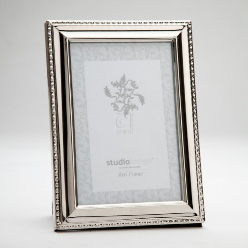 8x10 Silver W Bead Rim Picture Frame