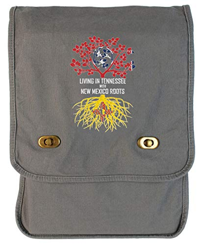 Tenacitee Living In Tennessee with New Mexico Roots Smoke Grey Canvas Field Bag
